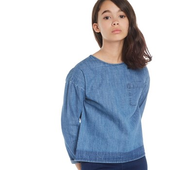 Monoprix Kids - Blouse denim - bleu