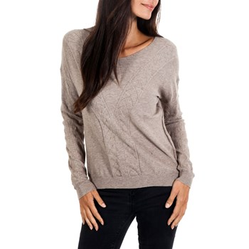 Maille et cachemire - Pull 8% cachemire - taupe
