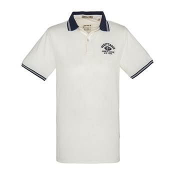 Schott - PSFitch - Polo manches courtes - blanc