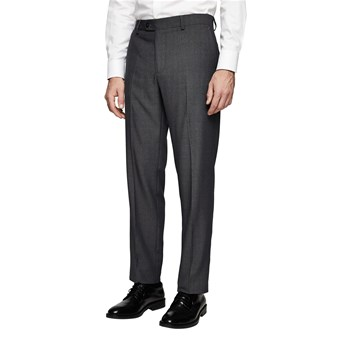 Mango Man - Pantalon de costume slim-fit structuré - gris