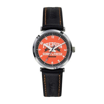 Freegun - Discovery - Montre en cuir - orange