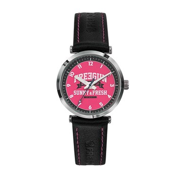 Freegun - Discovery - Montre en cuir - rose