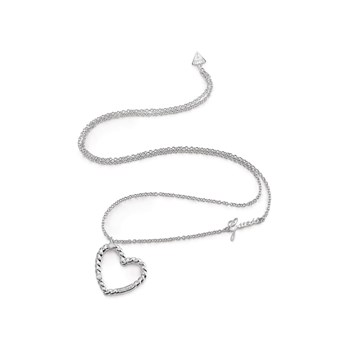 Guess - Twisted - Collier chaine - argent