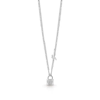 Guess - Heart Lock - Collier chaine - argent
