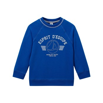 Sweat-shirt en molleton - bleu