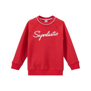 Sweat-shirt en molleton - rouge