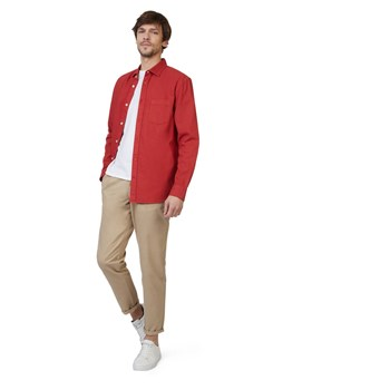 Chemise coupe regular - rouge