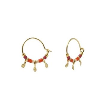 Sweety pearl - Boucles créoles - rouge