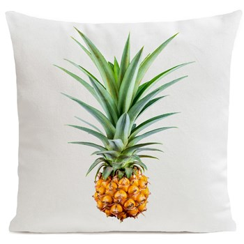 Mr Pineapple - Coussin en velours - blanc