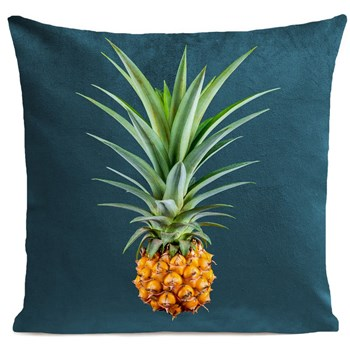 Mr Pineapple - Coussin en velours - lagon