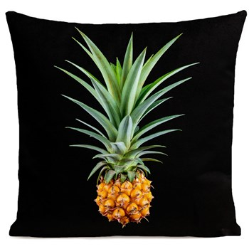 Artpilo - Mr Pineapple - Coussin en velours - noir