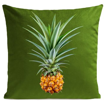 Artpilo - Mr Pineapple - Coussin en velours - vert