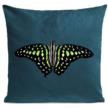 Green Butterfly - Coussin 380 g/m2 - lagon