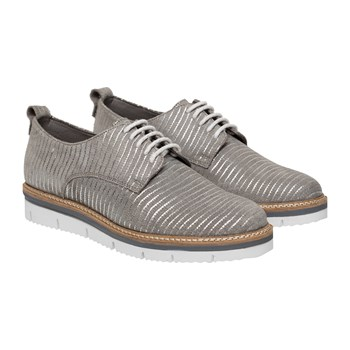 Derbies en cuir - gris