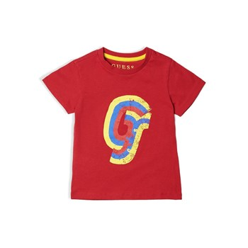 T-shirt imprimé frontal - rouge