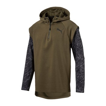 UNISEX AT 1/4 ZIP ENERGY - Hoodie - khaki