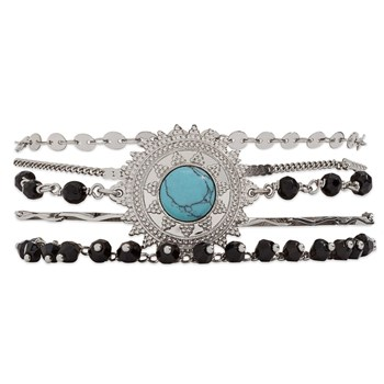 Magic - Bracelet multi-rangs - noir