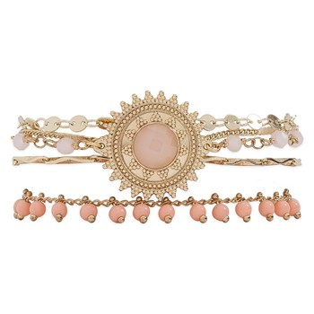 Magic - Bracelet multi-rangs - rose