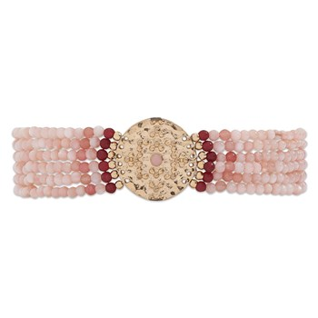 Venus - Bracelet multi-rangs - rose