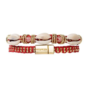 Ciloo - Bracelet multi tours - rouge