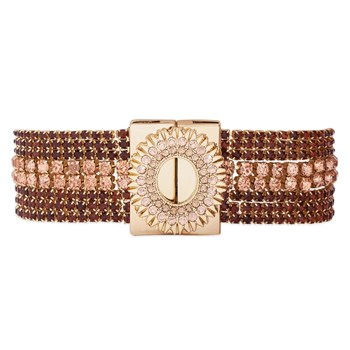 Flakes - Bracelet multi-rangs - rose