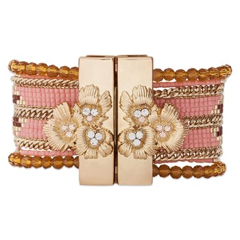 Eternity - Bracelet manchette - rose