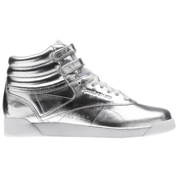 F/S Hi Metallic - Baskets en cuir - argent