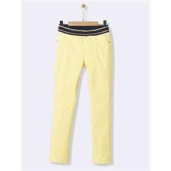 Treggings satin - jaune