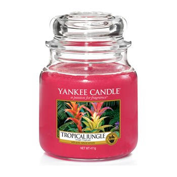 Yankee Candle - Jungle tropicale - Geurkaars - medium jar - rood