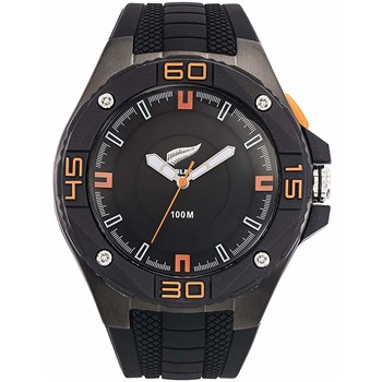 All Blacks - Montre avec bracelet en silicone - noir