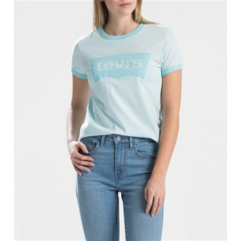 Batwing tee - Jean droit - turquoise