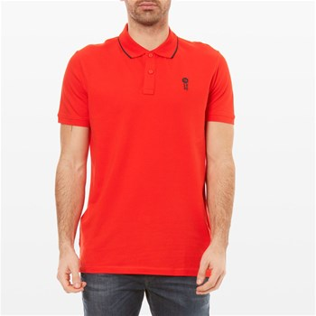 Stone - Polo manches courtes - rouge
