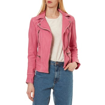 Video 2 - Veste en cuir - fuchsia