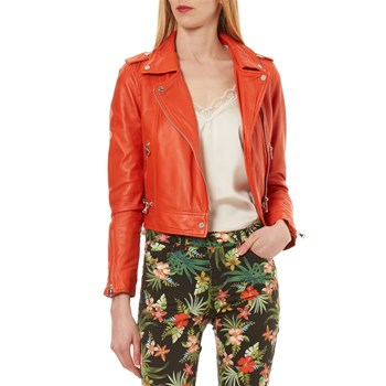 Yoko Fun - Veste en cuir - orange