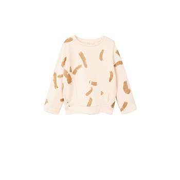 Sweat-shirt coton imprimé - rose clair