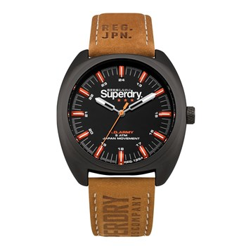 Superdry - Infantry - Montre analogique en cuir - marron