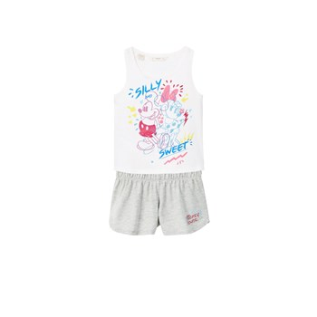 Pyjama court Mickey Mouse - blanc