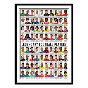 Wall Editions - Legendary Football Players - Affiches - multicolore