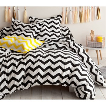 Enlora Home - Small Zigzag - Bettwäsche-Set - weiß