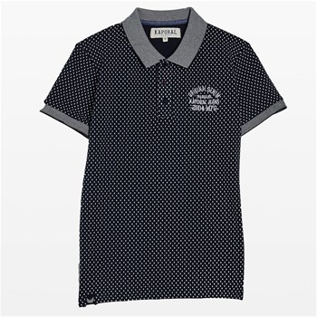Raga - Polo imprimé all over - bleu marine