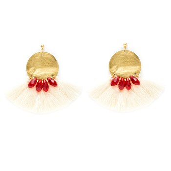 Charly James - Boucles d'oreille pendantes - blanc