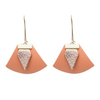 Charly James - Chloé - Boucles d'oreilles en cuir - orange