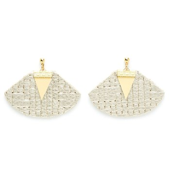 Charly James - Zazie - Boucles d'oreille pendantes - gris clair