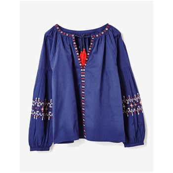 Blouse à broderies aztèque