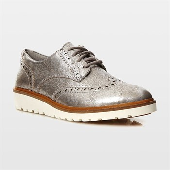 Ellis Street Oxford - Zapatos Oxford de cuero - plateado