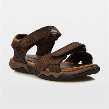 Oak Bluffs Leather 2Strap - Offene Ledersandalen - braun