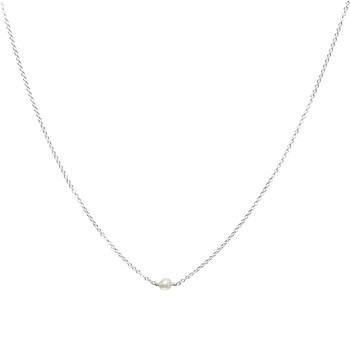 YAY You Are Young - Stella - Collier en argent orné d'agate - blanc