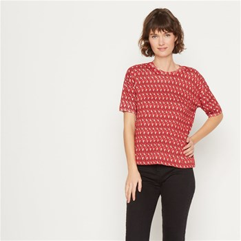 Vanessa - Pull manches courtes - rouge