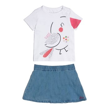 Guess Kids - Ensemble t-shirt et jupe - blanc