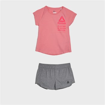 Reebok Performance - Ensemble t-shirt et short - rose